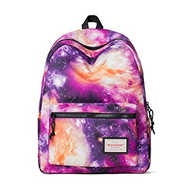 12ed9aa8c7 Image Unavailable. Image not available for. Color  Galaxy Backpack Cute for School  Backpack for Girls School Bags for Boys ...