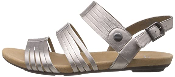 6677093e3fe Clarks Women s Olbia Shimmer Pewter Leather Fashion Sandals - 7.5 UK  Buy  Online at Low Prices in India - Amazon.in