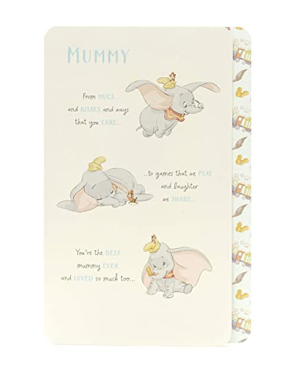 Image Unavailable Not Available For Color Disney Dumbo Mummy Birthday Card