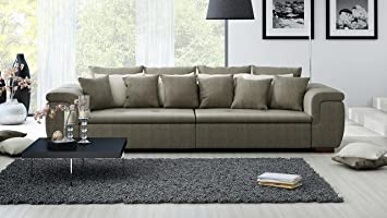 XXL Sofa, Big Sofa, Mega Sofa, Ultrasofa, Couch, Kuschelsofa, Webstoff