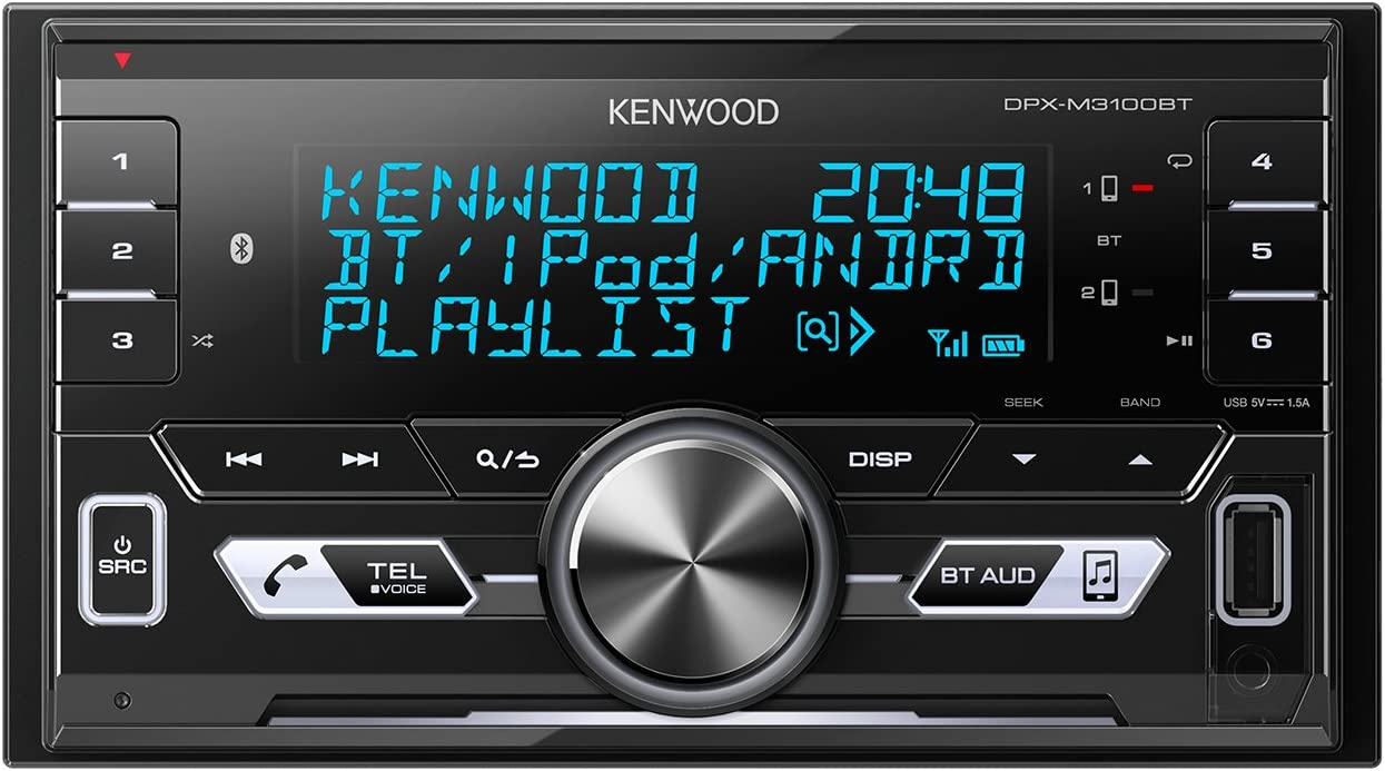 Kenwood Electronics DPX-M3100BT, Radio para Coche, 1, Negro