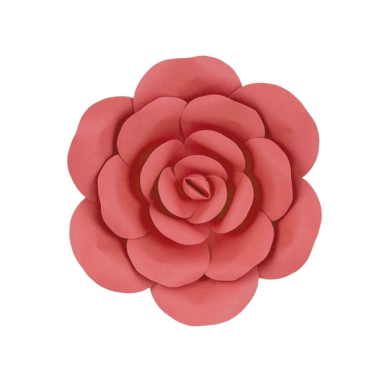Mega Crafts 12 Handmade Paper Flower In Coral For Home Decor Wedding Bouquets Receptions Event Flower Planning Table Centerpieces Backdrop