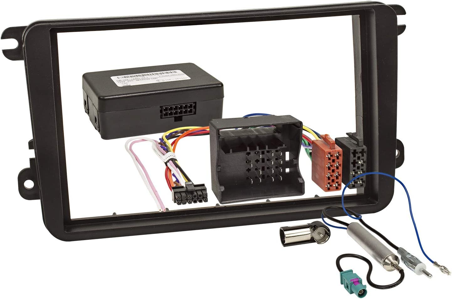 Double Din Radio Faceplate Set With Can Bus For Vw Golf Elektronik
