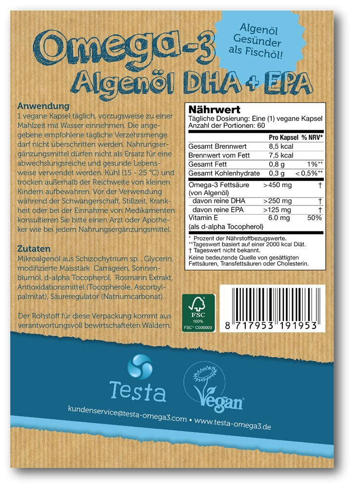Es Ist Omega 3 Aber Besser Viel Gesünder Als Fischöl