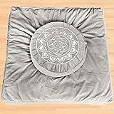 Florensi Meditation Cushion & Zabuton Meditation Mat Bundle- Premium Velvet Meditation Pillow for Women and Men,Washable Cove