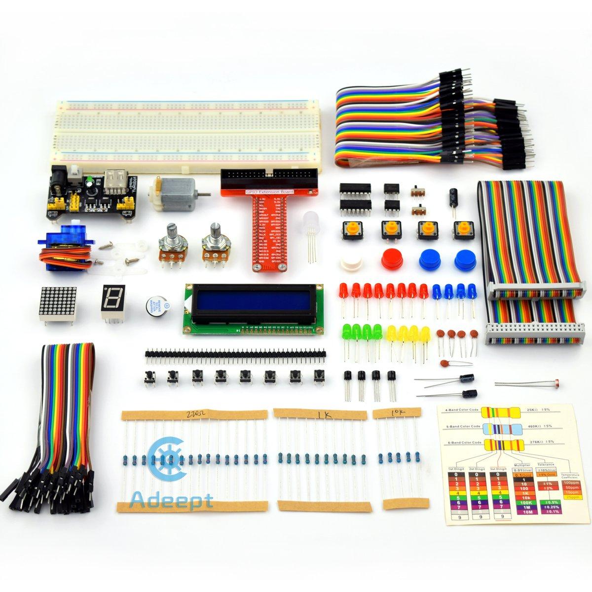 Adeept Super Starter Kit For Raspberry Pi 3 2 Model B Wiringpi Servo Lcd1602 Motor C And Python Code Beginner With User