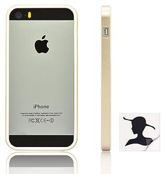Lini - Marco para iPhone 5 y 5S (botones cubiertos, incluye pegatina decorativa)