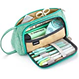EASTHILL Medium Capacity Pencil Pen Case Bag Pouch Holder Multi-Slot School Supplies for Middle High School Office…