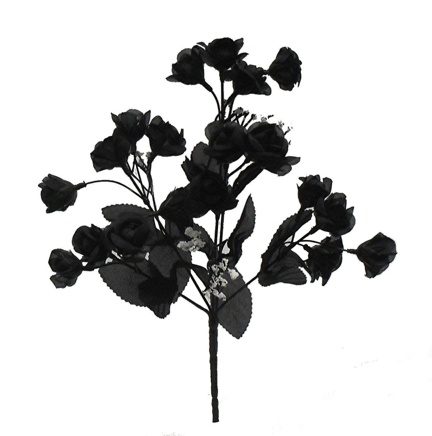 145-Mini-Open-Rose-Bush-Artificial-Silk-Wedding-Bridal-Craft-Bouquet-Flowers-5-Stems-20-Roses