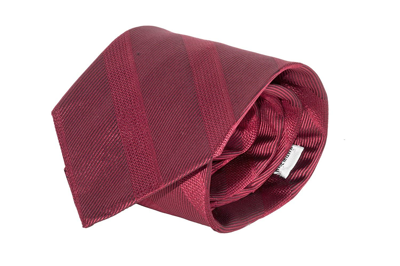 Corbata hombre LANCETTI rojo color sólido fantasía regimental 100 ...
