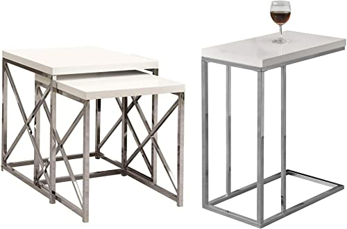 Monarch Specialties Contemporary Accent 3 Piece Nesting End Table