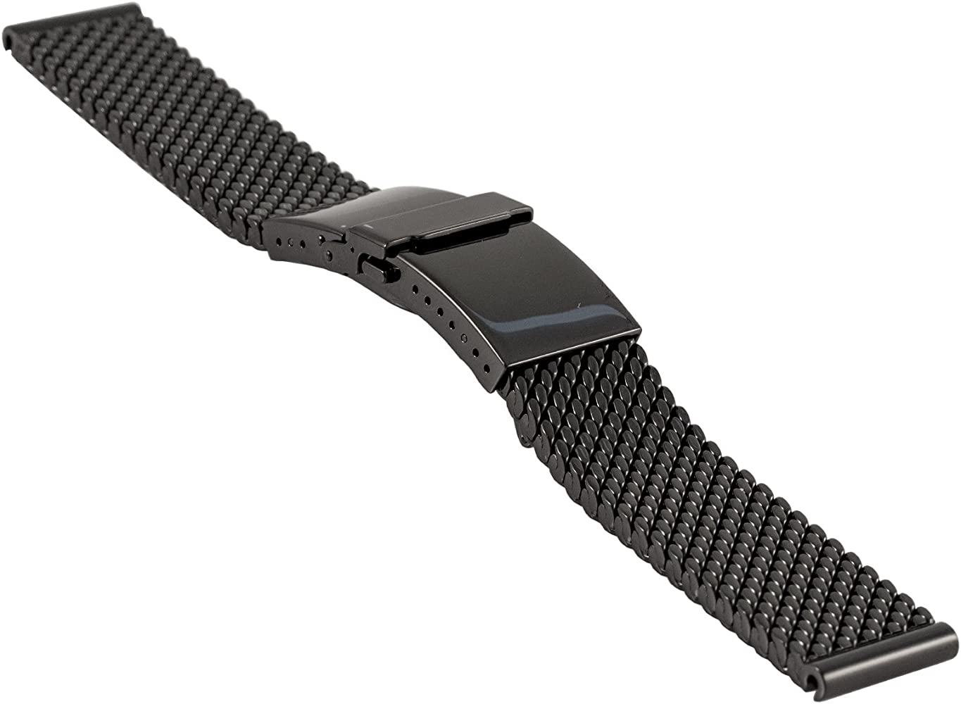 800e64bb8 Staib milanaise/mesh Watch Strap Deluxe with Deployment Clasp with  flip-Lock Buckle,
