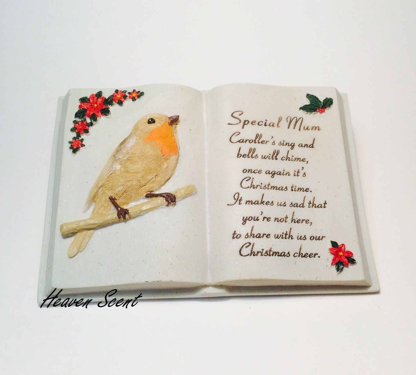 Mum Christmas Graveside Memorial ornament Book with Robin David Fischoff 13977E