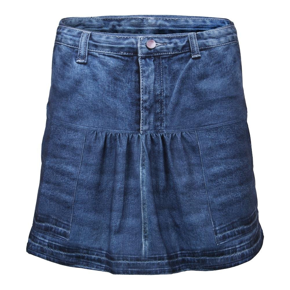 Lucky In Love-Women`s Long Pocket Tennis Skort Medium Denim-(655295864457)