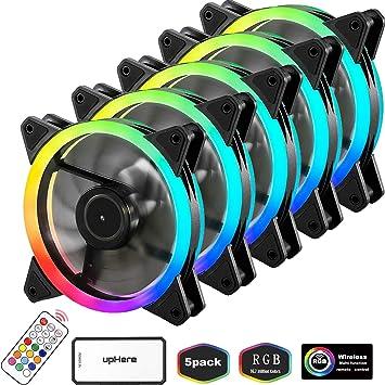 upHere Ventiladores primarios 120mm RGB: Amazon.es: Electrónica