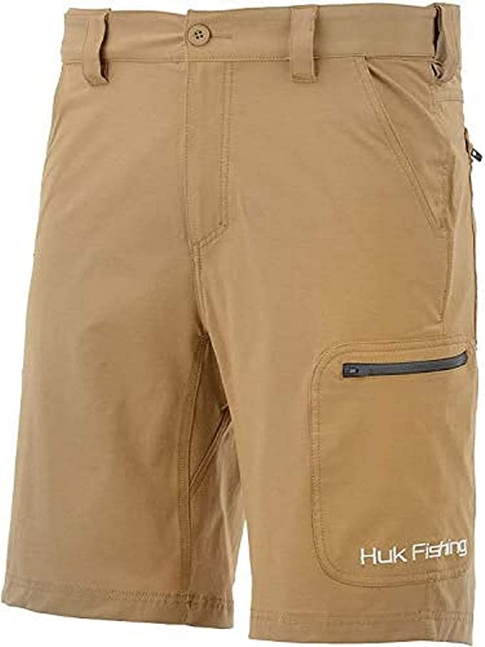 HUK Mens Next Level 10.5 Quick-Drying Performance Fishing Shorts with UPF 30 Sun Protection