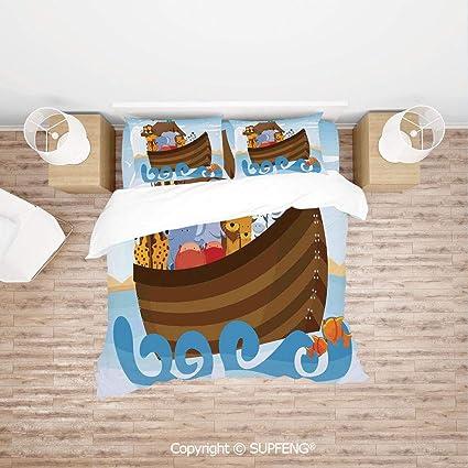 Amazon com: SCOXIXI 3D Bedding Sets Different Wild Animals on Noahs