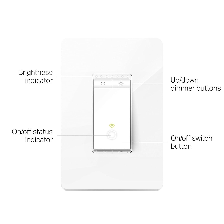 Tp Link Hs220 Smart Dimmer Switch 1 Pack White Light Diagram