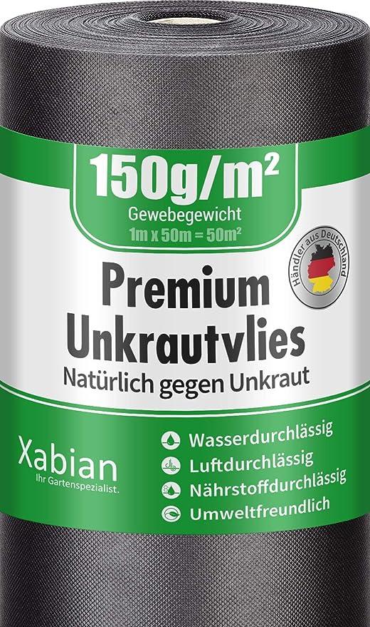 Xabian Anti Unkrautvlies 150g//M² Gartenvlies Rolle Unkrautfoli Extrem ReißFest