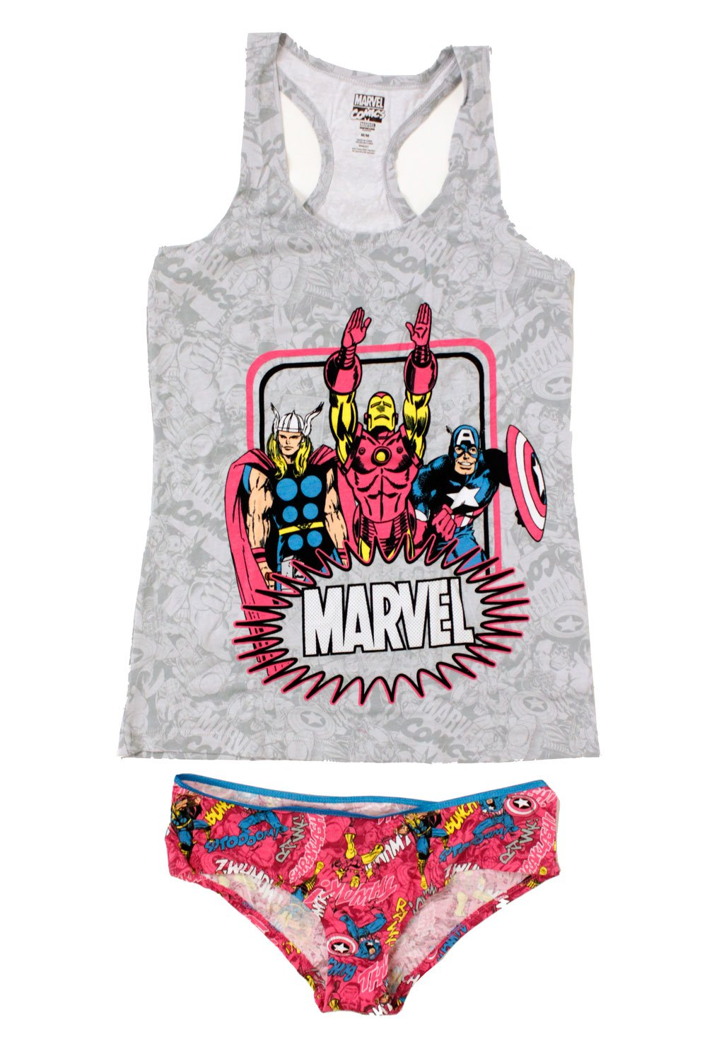 Womens Junior Avengers 2pc Cami and Panty Set BS-17MN099JTPTG-P
