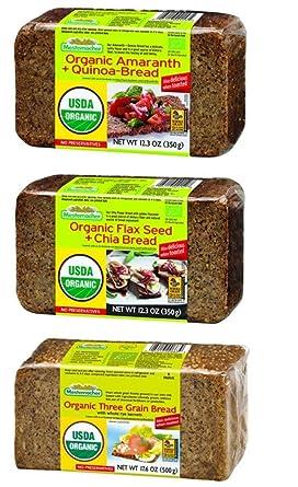 Mestemacher - Juego de 3 panes orgánicos con sabor variado ...