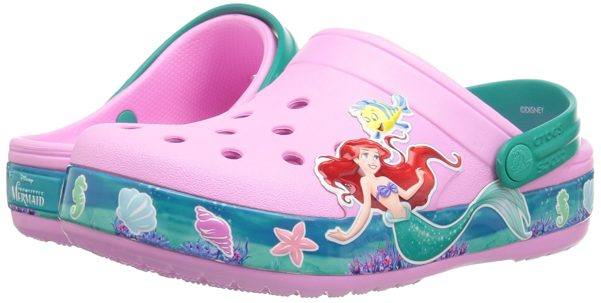 Crocs Unisex-Kids  CB Princess Ariel Clog K , carnation , C10 M US Toddler by Crocs (Image #6)
