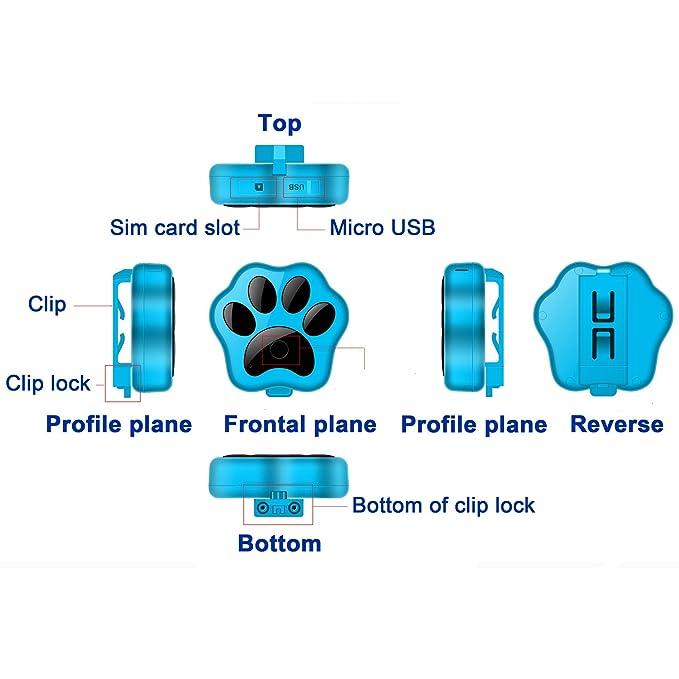 ksrplayer mascotas Rastreador de GPS WCDMA 3 G mundial ...