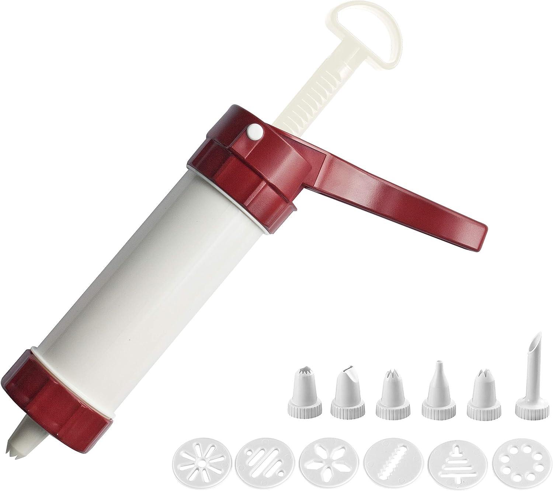 Westmark 32302260 Cookie Press/Icing SyringeLuxus Kitchen Tool, 7.6 oz, White/Red