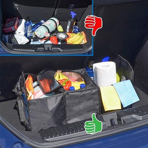 Eyepower Kofferraumtasche Kühlfach 60x32x29 Cm Auto Organizer Kühl Tasche Faltbare Kofferraum Aufbewahrungs Box Schwarz Elektronik