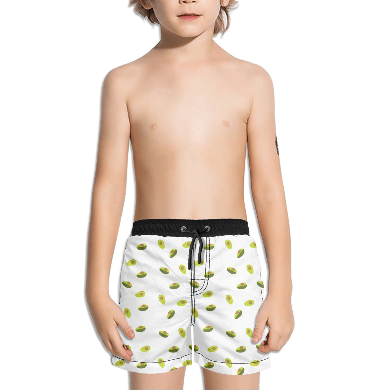 Trum Namii Boys Quick Dry Swim Trunks Cute Avocado White Background Shorts