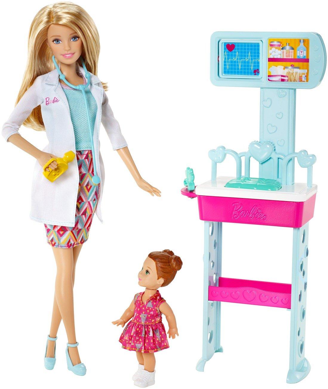 Barbie - Muñeca y accesorios, quiero ser doctora (Mattel CCP71)