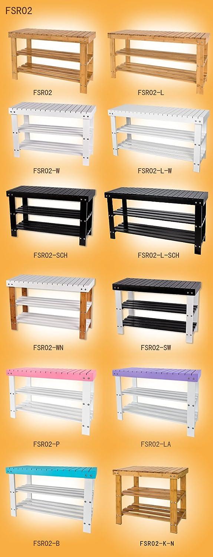 Rangement chaussure//salle de bain SoBuy/® FSR02-K-N Etag/ère /à chaussures Petit mod/èle L50xP29xH45cm Vernis naturel Banquette en bambou