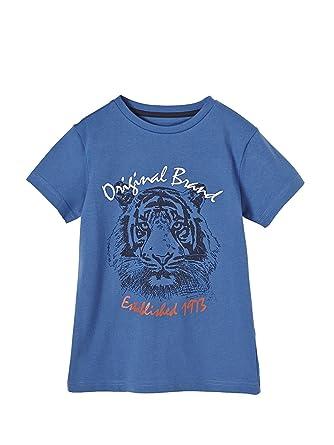 302ed0976c7d0 Vertbaudet T-Shirt garçon Broderie Lion Bleu 2 A  Amazon.fr  Vêtements et  accessoires