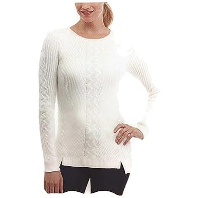Nautica Womens Latest Fashion 100% Cotton Cable Knit Tunic Sweater ...