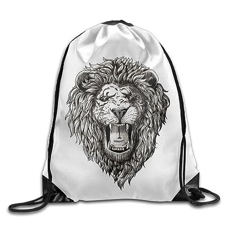 Amazon.com: Lion Face tatuaje Graphic Roaring boca Cool Cool ...