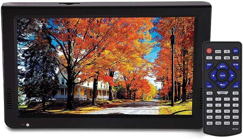Vbestlife Televisor analógico Digital DVB-T-T2 de 10 Pulgadas Resolución 1024x600 TV portátil