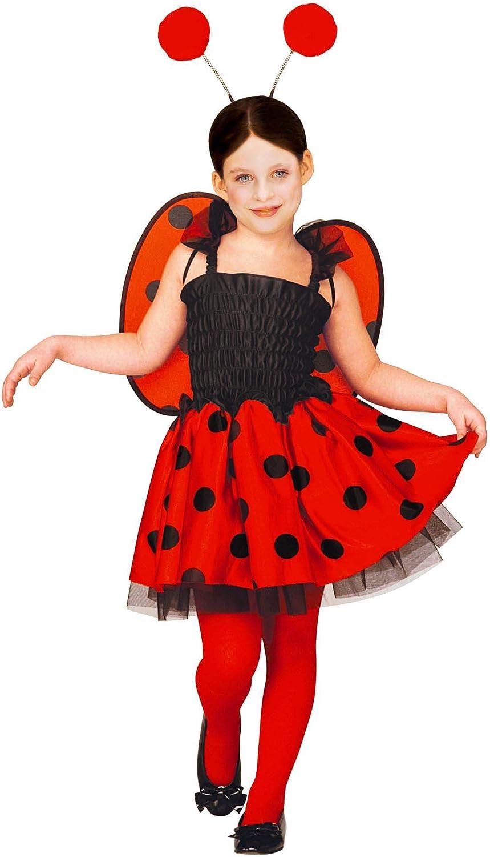 WIDMANN 34719 - Disfraz de mariquita para niños, multicolor, 110 ...