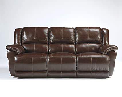 Attirant Ashley Furniture Signature Design   Lenoris Reclining Sofa   Power Recliner    Coffee Brown
