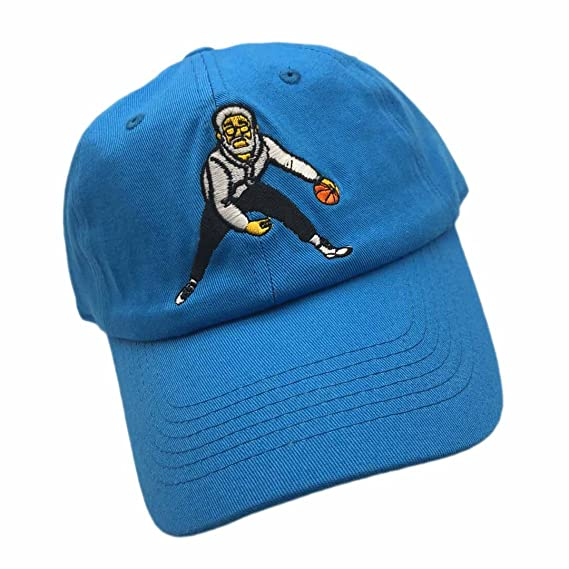 5b4ed58e Shengyuan Lin Classic Cotton Dad Hat │ Baseball Cap with Pre-Curved Visor,  Embroidery Design and Adjustable Snapback Closure(Uncle Drew-Baby Blue) at  ...