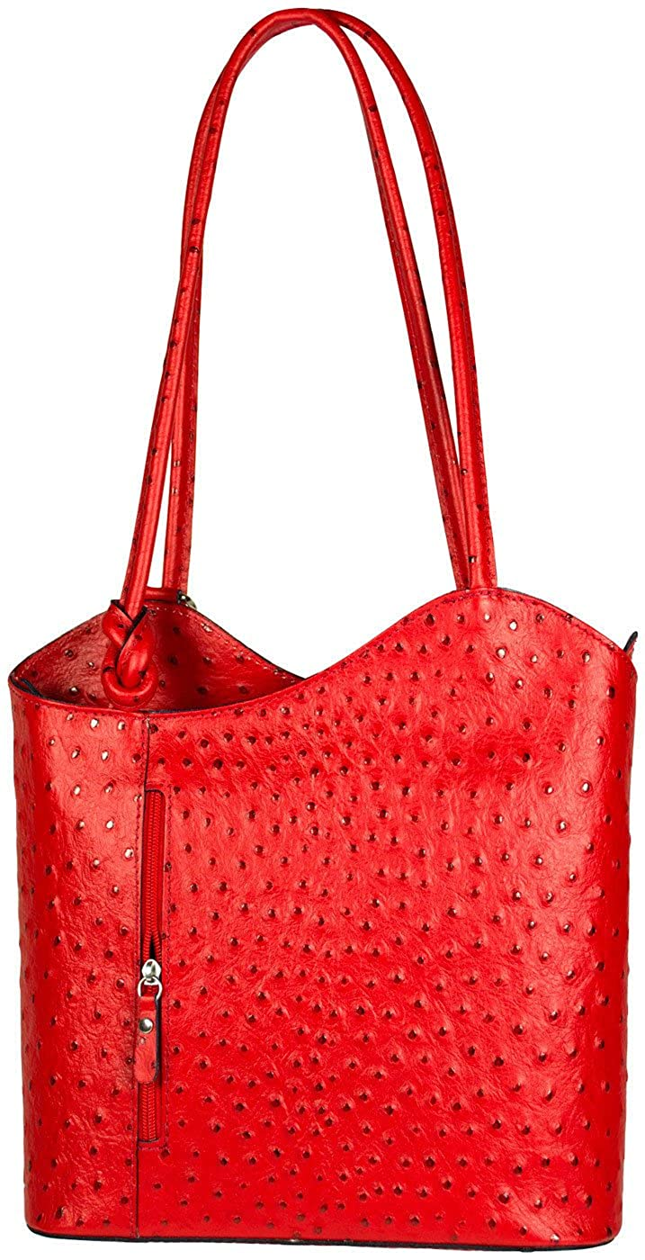 ad48ca7ed5a8 Amazon.com: ITALIAN Genuine OSTRICH LEATHER Tote Handbag, Shoulder ...