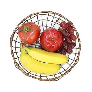 VANRA - Cuenco para frutas (alambre de metal, cesta para frutas, almacenamiento, bronce) 30000129