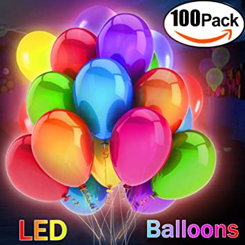 foil pack c light party balloons the bobo balloonslight dark clear large sticks on balloon up led in glow