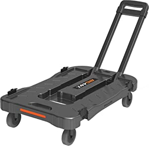 440-Lb Heavy Duty Platform Utility Cart Built Tough for Bigant Medium Collapsible Crates - a Rolling Trolley w/Retractable Handle for Grocery, Moving and More, Truck Only