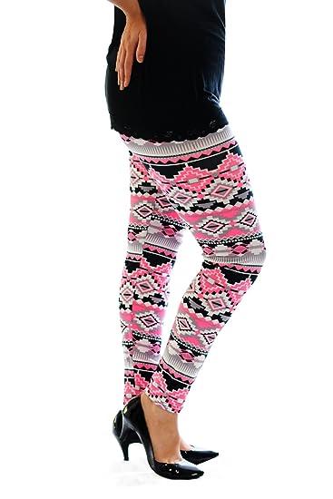 8309a6a5880 Nouvelle Collection. Womens Plus Size Leggings Ladies Neon Aztec Print  Bottoms Pants Elasticated Waist Full