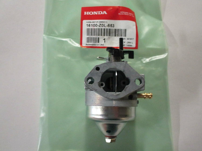 16100-Z0L-811 Genuine OEM Honda GCV160 General Purpose Engines Carburetor Assembly