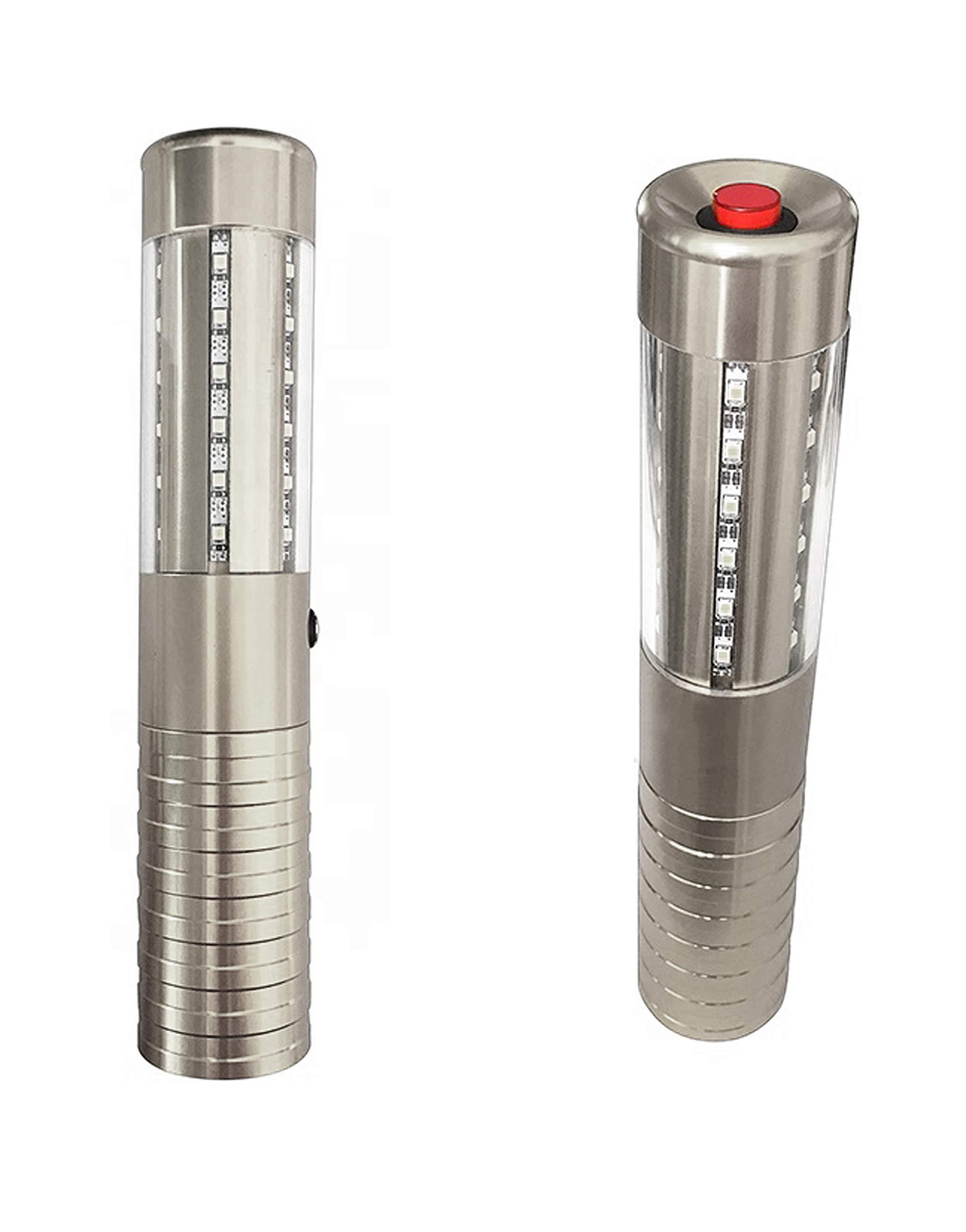 Fancy Supplies Premium LED Strobe Bottle Topper - Silver Rechargeable - Bottle Service for VIP Nightclubs led Bottle Topper or Baton (1 Piece, Silver)