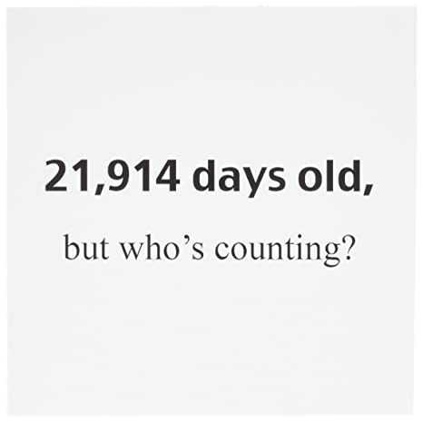 Amazon.com: evadane – Feliz cumpleaños – 21,914 días Viejos ...