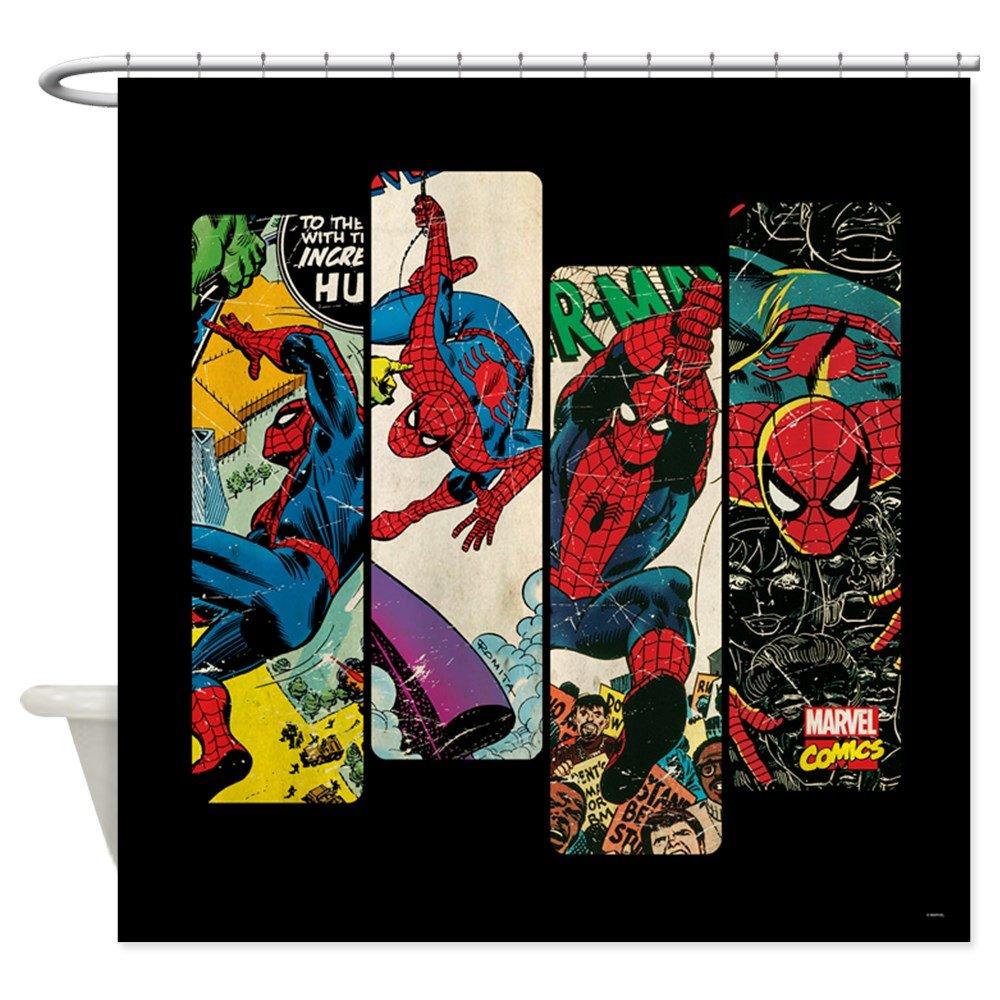 Amazon CafePress Spiderman Comic Panel Decorative Fabric Shower Curtain 69x70 Home Kitchen