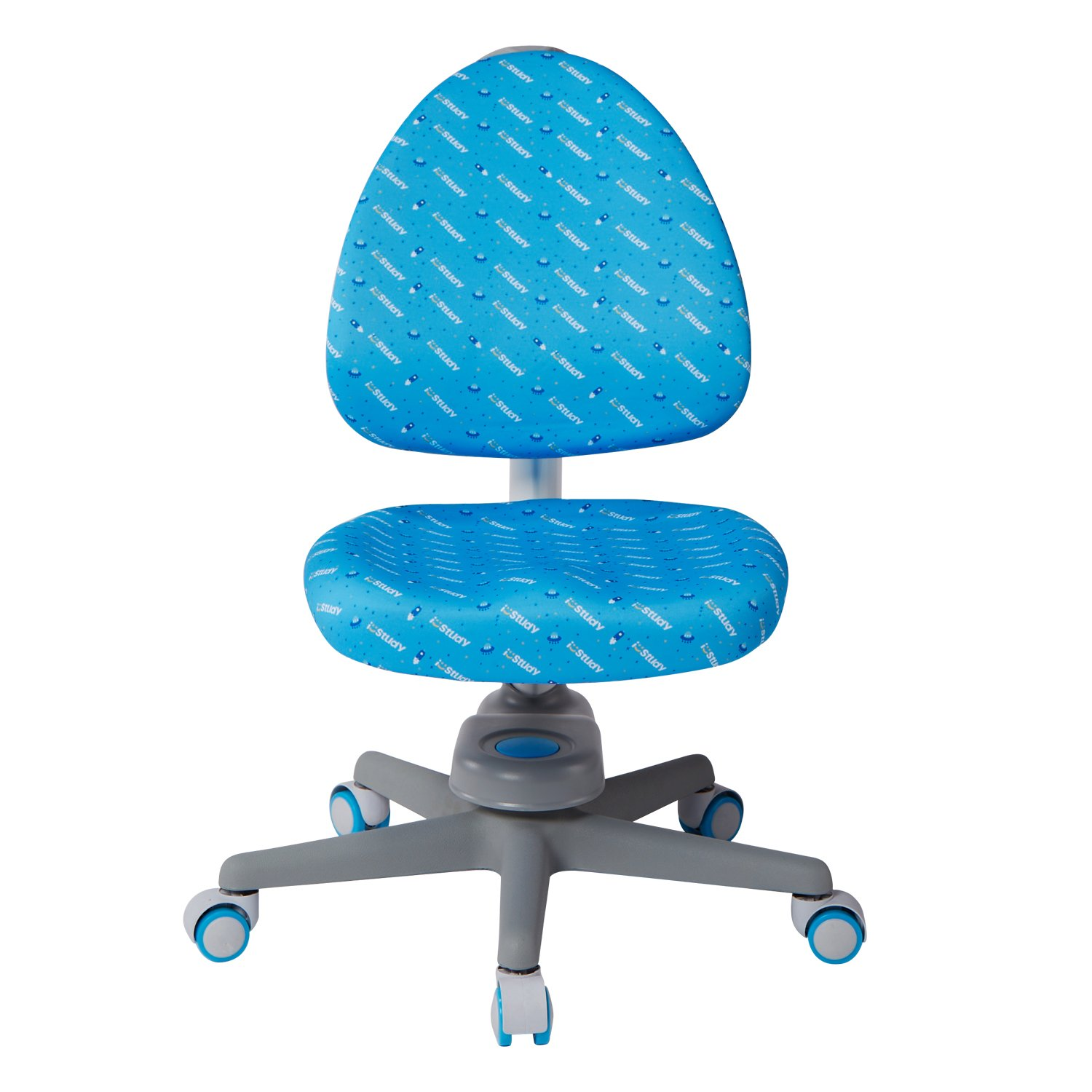 I STUDY Student Height Adjustable Kids Wheeled Chair Study Office Seat (Blue)