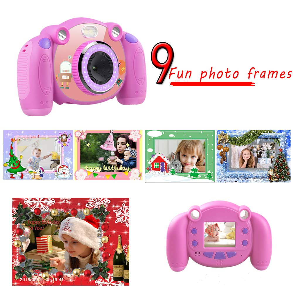 denicer Kids Camera Children Camcorders HD 2 Inch Screen with Mic, SD Card Non-Slip and Anti-Drop Design Children's Camera Taking Videos and Photos for Girls & Boys Birthday Gift by denicer (Image #2)